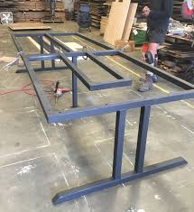Iron Table Ls Custommetaltablebase For Reclaimedwoodconferencetable