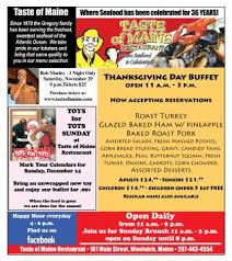 the cryer taste of maine thanksgiving day buffet open 11