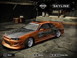 nissan skyline r34 2 fast 2 furious need for speed most wanted nissan skyline r34 gt r v spec 1999