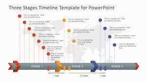 ppt timeline template three stages timeline template for powerpoint slidemodel