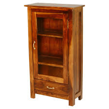 wood curio cabinet with glass doors solid wood single glass door 1 drawer curio cabinet