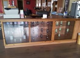Reception Desk With Glass Display Glass Display Cabinets Counter And Reception Desk For Sale In