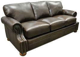 Furniture Comfortable Full Leather Couches Omnia Leather Bennett - Full leather sofas