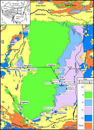 North China Plain Map by Organic Geochemistry Of Oil And Source Rock Strata Of The Ordos