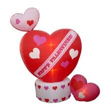 8 foot animated s day hearts w top
