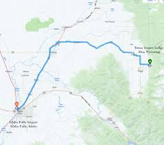 Idaho Falls Map Teton Teepee Lodge Getting Here Made Easy From Jackson Idaho Falls