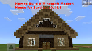 how to build a cool modern minecraft pe house v0 12 1 youtube