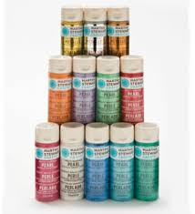 shop plaid martha stewart metallic pearl paint set 12 bottle