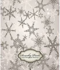 Vinyl Photography Backdrops Holiday Silver Snowflakes Vinyl Photography Backdrop