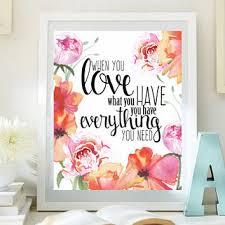 Love Inspirational Print Teen Room Decor from LittleEmmasFlowers