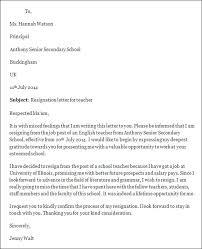 teacher resignation letters teacher resignation letter template