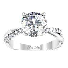 twisted band engagement ring half pave twisted engagement ring