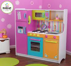 kidkraft deluxe big n bright kitchen toy set food kids pretend