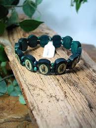 st jude bracelet bra14 st jude green wooden bracelet rosarycard net