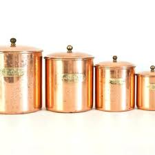 copper canisters kitchen copper canister set kitchen vintage canisters com antique 900x600