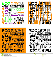 halloween art background halloween word art set of 4 stock images image 33776014