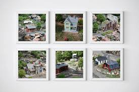 railroad station photography set for little boys room train wall
