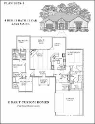 4 bed floor plans custom homes k bar t custom homes bell county