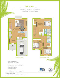floor plans bahia delray townhomes