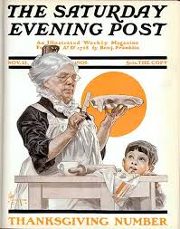 classic covers thanksgiving dinner the saturday evening post