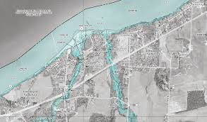 Erie County Map Map Of Fema Proposed Flood Hazard Information Available For Erie County