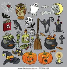 halloween ravens clipart illustrations creative halloween party iconsdoodle hand drawing witch stock vector