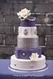 Purple And Silver Wedding Wedding U0026 Bridal Cakes Elysia Root Cakes