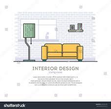 interior design living room outline vector stock vector 430027249