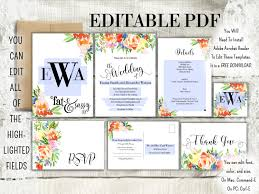 diy your wedding invitation needs with this editable pdf template
