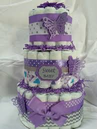 purple butterfly diaper cake baby shower diaper cakes babies