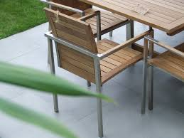 Steel Patio Furniture Sets - extending teak and stainless steel garden furniture set riviera
