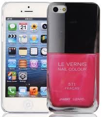 com iphone 5 case pink nail polish back cover for iphone 5 5s