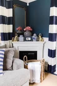 the room we use most lemon stripes