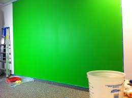 chroma key green screen wall for video ben smithson