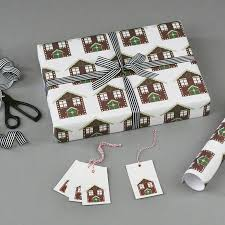 gingerbread house christmas wrapping paper by nancy u0026 betty studio
