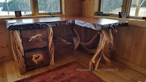 tables made from logs custom made desks rustic desk live edge cabin furniture
