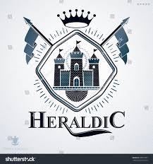 heraldic coat arms made retro design stock illustration 698875357