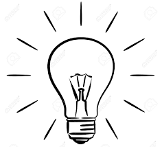 Light Bulb Clipart Bulb Clipart Black And White
