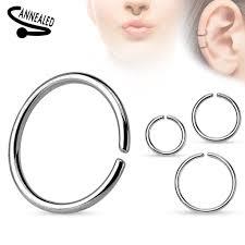 auskarai i nosi originalus netikras septum auskaras iš chirurginio plieno auskarai