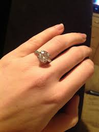 size 6 engagement ring size 7 finger your 3 3 5 ct rings weddingbee