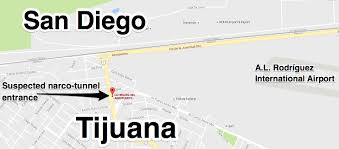 San Diego International Airport Map by Mexican Authorities Find Narco Tunnel Between Tijuana And San
