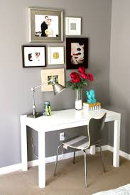 best 25 parsons desk ideas on pinterest small white desk desk parsons desk work area in bedroom again liking the grey walls and white desk also love the desk lamp