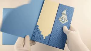 Muslim Wedding Card D 7604 Blue Color Laser Cut Cards Muslim Cards Muslim Wedding