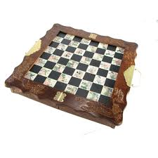 small folding oriental chess set