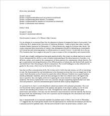 9 recommendation letters for employment u2013 free sample example