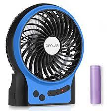 battery operated desk fan amazon com opolar rechargeable battery operated fan portable desk
