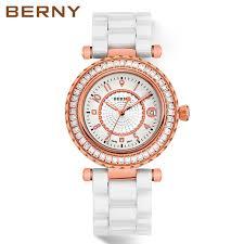 ceramic bracelet watches images Berny sapphire ceramic watch women white strap bracelet watch jpg
