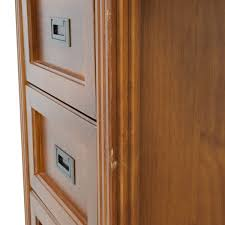 64 off unkown large dark wood desk with three filing cabinets