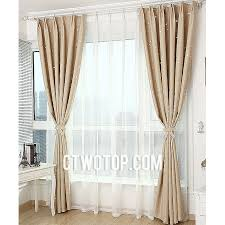 shabby chic blackout toile beige and silver star curtains