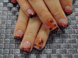 easy thanksgiving nail art designs fall leaf acrylic nail art these are awesome where they got the